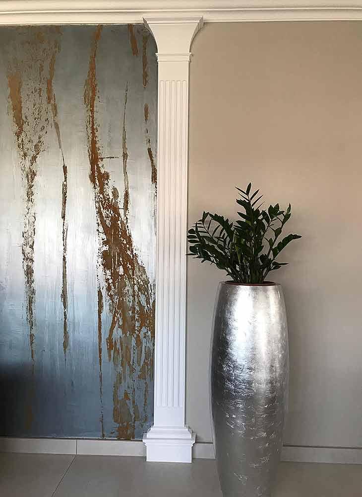 Innenraumgestaltung Metall Rost Kontrast